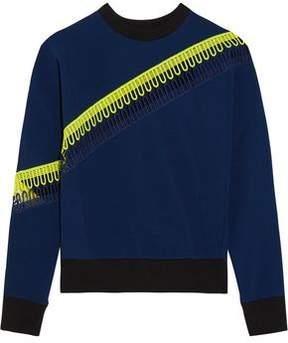 Christopher Kane Crochet-Trimmed Scuba-Jersey Sweatshirt