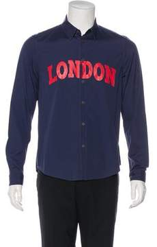 Opening Ceremony London Graphic Woven Shirt