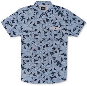 Rip Curl Men's Stalked Floral-Print Pocket Shirt