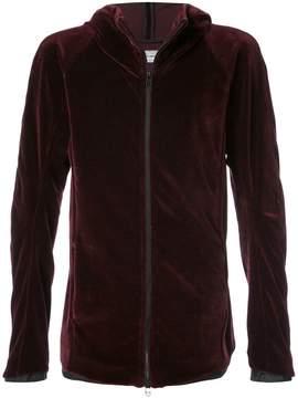 Individual Sentiments velvet zip hoodie