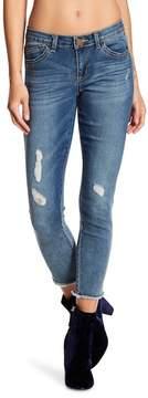 Democracy Square Pocket Destructed Seamless Skinny Jeans