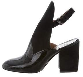 Laurence Dacade Patent Leather Round-Toe Booties