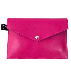 Giuseppe Zanotti Pink Leather Clutch Bag