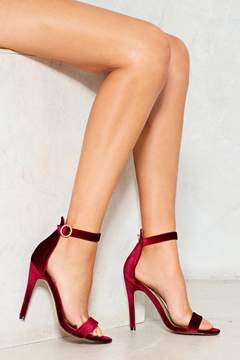 Nasty Gal nastygal You Gotta Velvet to Me Strappy Heel
