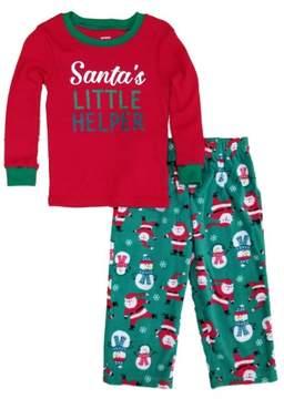 Carter's Toddler Boys Santa's Little Helper Christmas Sleepwear Pajama Set