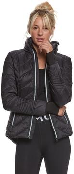 Blanc Noir Puffer Jacket with Reflective Trim 8164047
