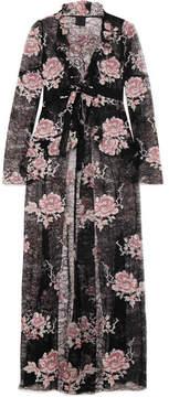 Anna Sui Floral-print Lace Jacket - Black