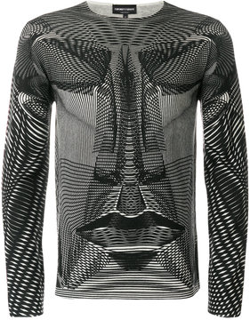 Emporio Armani long sleeved psychedelic sweater