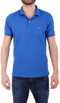 Sun 68 Cotton Blend Pique Polo Shirt
