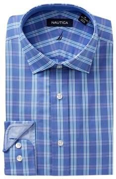 Nautica Pacific Ocean Plaid Classic Fit Dress Shirt