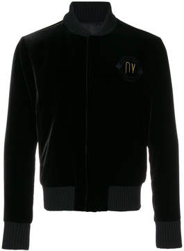 Emporio Armani embroidered bomber jacket