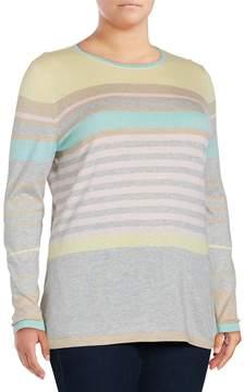 Basler Women's Striped Silk & Cashmere-Blend Pullover