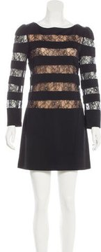 Erin Fetherston Lace-Paneled Mini Dress