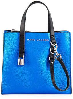 Marc Jacobs Grind Mini Metallic Leather Shopper Tote Bag