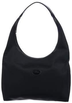 Longchamp Leather-Trimmed Shoulder Bag