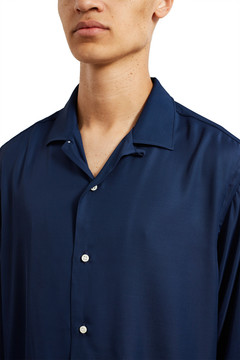 Opening Ceremony Gitman Brothers For Navy Rayon Camp Shirt
