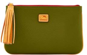 Dooney & Bourke Patterson Leather Carrington Pouch - OLIVE - STYLE