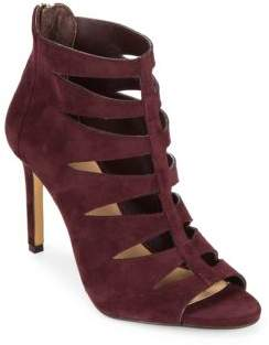 Saks Fifth Avenue Florynce Leather Cutout Ankle Booties