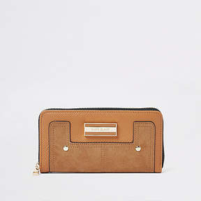 River Island Light brown zip around purse