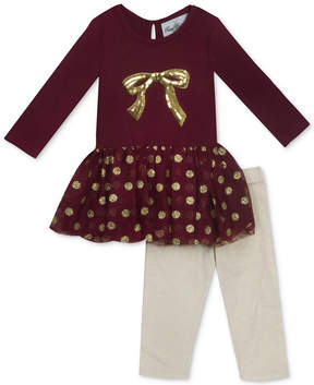 Rare Editions 2-Pc. Bow Tutu Tunic & Leggings Set, Baby Girls (0-24 months)