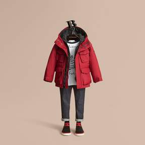 Burberry Hooded Field Jacket with Detachable Hooded Warmer
