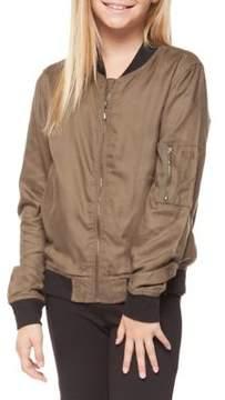 Dex Girl's Contrast Knit Bomber Jacket