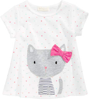 First Impressions Sweet Chic Kitty Cotton T-Shirt, Baby Girls (0-24 months), Created for Macy's