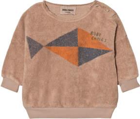 Bobo Choses Pale Pink Fish Print Sweatshirt