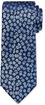 Neiman Marcus Iridescent Flower Brocade Tie