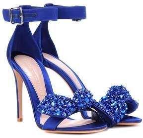 Alexander McQueen Crystal-embellished satin sandals