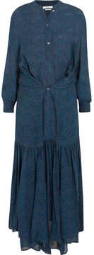 Etoile Isabel Marant Javene Printed Chiffon Maxi Dress - Blue