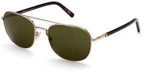Montblanc MB 597S Gold-Tone Aviator Sunglasses