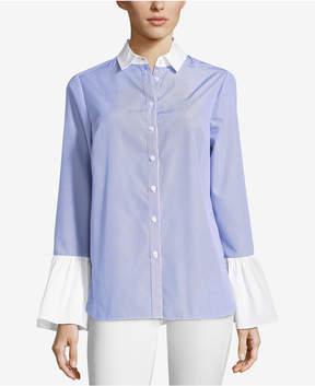 ECI Cotton Contrast-Trim Shirt