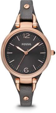 Fossil Georgia Smoke Leather Watch