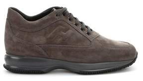 Hogan Men's Brown Suede Sneakers.