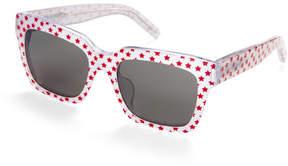 Saint Laurent BOLD 1/F Star Print Square Sunglasses