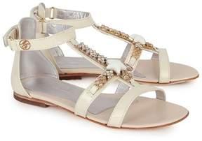 Miss Blumarine Leather Starfish and Gem Sandals