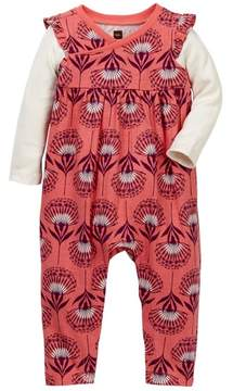 Tea Collection St. Kilda Wrap Neck Romper (Baby Girls)