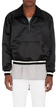 Fear Of God Men's Logo Tech-Satin Quarter-Zip Pullover