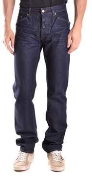 CNC Costume National Men's Blue Cotton Jeans.