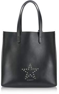 Givenchy Stargate Medium Black Leather Tote Bag