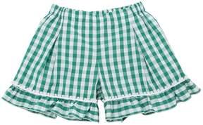 La Stupenderia Gingham Print Cotton Shorts