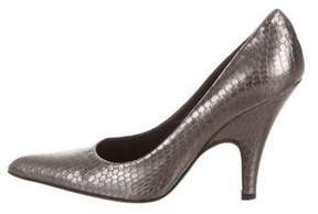 Helmut Lang Embossed Pointed-Toe Pumps