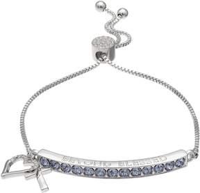 Brilliance+ Brilliance Beyond Blessed Adjustable Bracelet with Swarovski Crystals