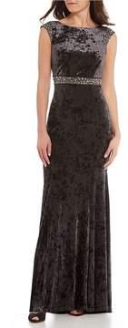 Decode 1.8 Cowl Back Velvet Gown