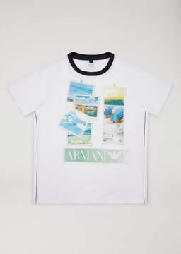 Armani Junior T-Shirt With Photo Prints