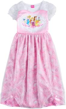 Disney Disney's Cinderella, Rapunzel & Belle Girls 4-8 Princess Dress-Up Nightgown