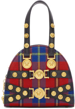 Versace Red Tartan Small Tribute Bag