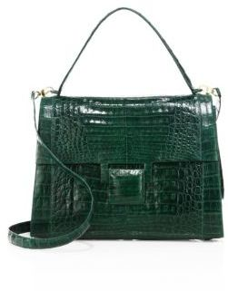 Nancy Gonzalez Medium Kelly Crocodile Top-Handle Bag