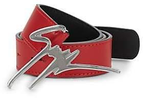 Giuseppe Zanotti Men's Logo-Buckle Leather Belt
